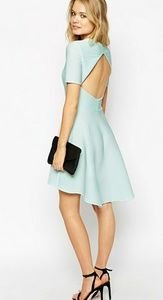 ASOS Skater Dress in Texture With Cut Out Back